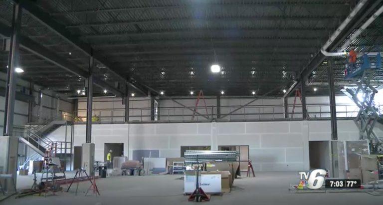Negaunee Township carpenter and millwright training center under construction